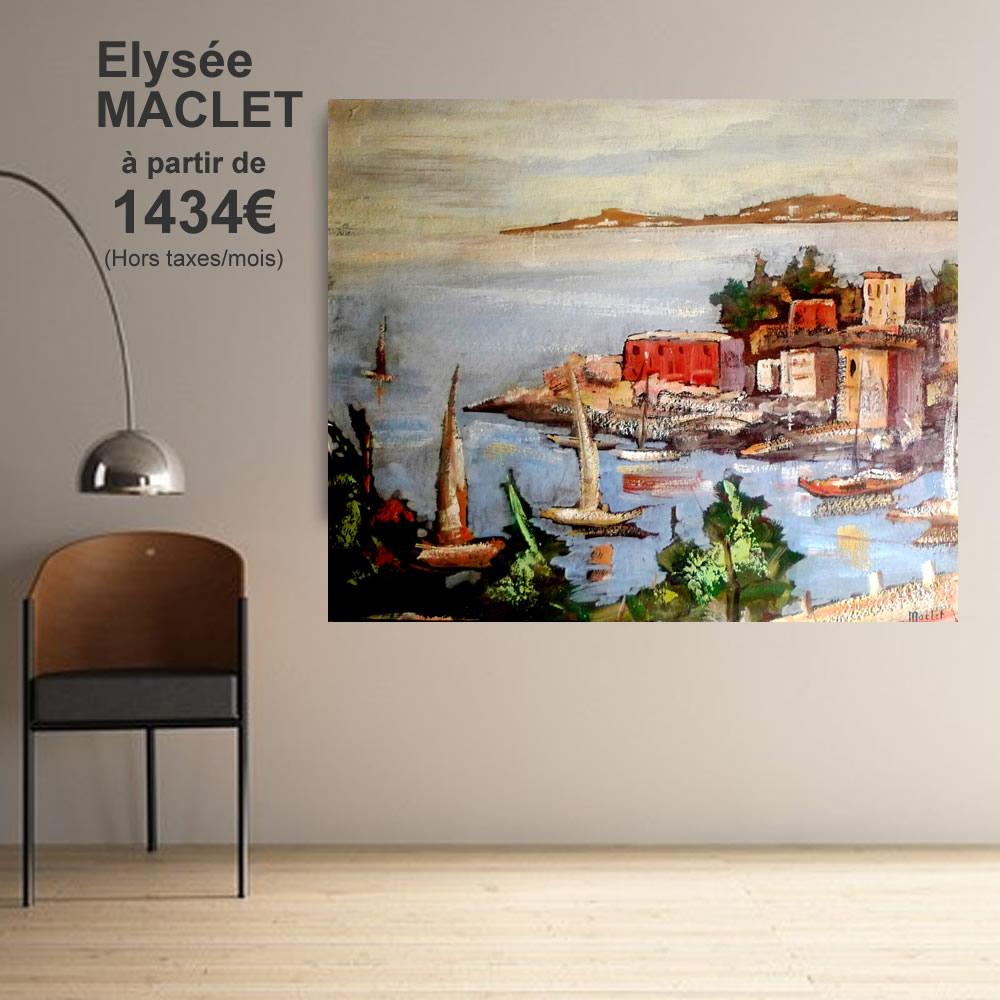 Elysée MACLET 1434 € ht par mois